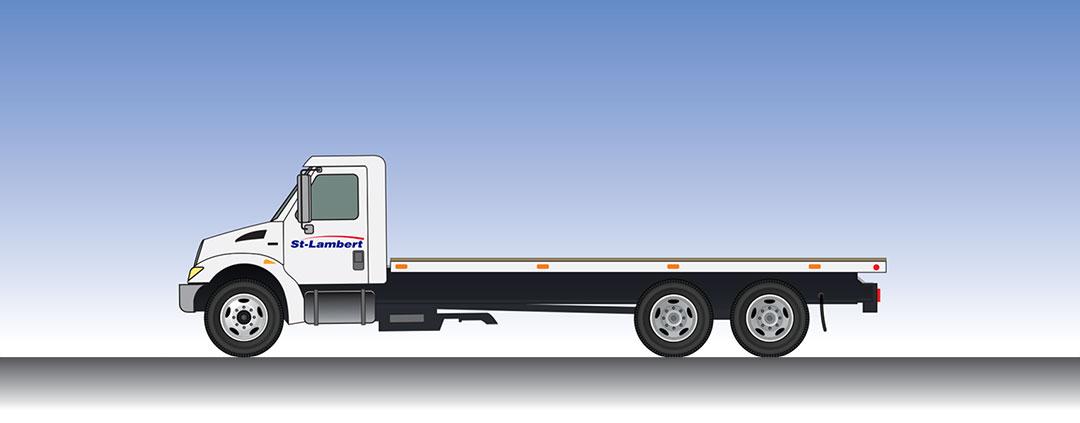 Camion plateforme